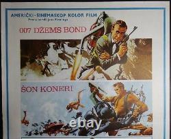 007 JAMES BOND THUNDERBALL Sean Connery 1965 RARE ORIGINAL EXYU MOVIE POSTER