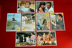 007 JAMES BOND YOU ONLY LIVE TWICE SEAN CONNERY 1967 8x RARE EXYU LOBBY CARD