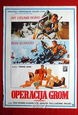 007 James Bond Thunderball Sean Connery 1965 Auger Rare Exyu Movie Poster