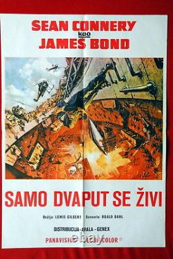 007 James Bond You Only Live Twice Sean Connery 1967 Rare Exyu Movie Poster