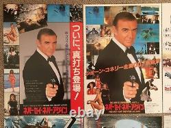 007 MOVIE FLYER Japan Mini Poster JAMES BOND Sean Connery Roger Moore Rare