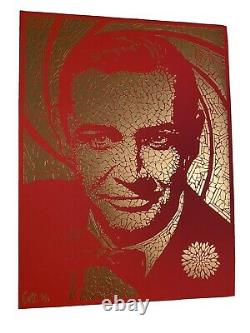 007 Todd Slater Signed James Bond Gold RED Sean Connery Poster /25 Rare