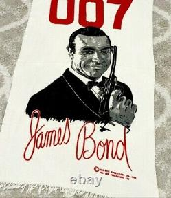 1965'JAMES BOND 007 Vintage Sean Connery 33 x 51 BEACH TOWEL Unused Cond