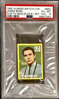 1965 Vlinder Sean Connery (james Bond) Psa 6 (pop 1) Highest Grade Rare (dr No)