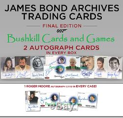 2017 James Bond Archives Final Edition Sealed ARCHIVE BOX Sean Connery Cut Auto