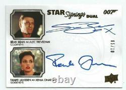 2020 James Bond Villains & Henchmen Famke Janssen Sean Bean Dual Auto 05/10 SP