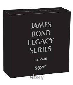 2021 James Bond Legacy Sean Connery 1 oz Silver Proof Colorized Coin FIRST ISSUE
