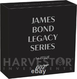 2021 James Bond Legacy Series Sean Connery 1 Oz. Silver Coin Ogp Coa