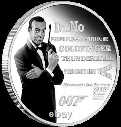 2021 James Bond Sean Connery 1oz Silver Coloured Proof Coin Perth Mint Legacy