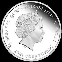 2021 Tuvalu $1 James Bond 007 Legacy Sean Connery 1 oz Silver Coin NGC PF 70
