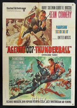 A. 007 THUNDERBALL Sean Connery JAMES BOND, MANIFESTO RARA 2a ed. POSTER, SCUBA