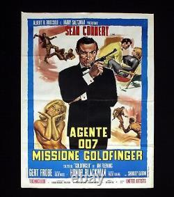 AGENTE 007 MISSIONE GOLDFINGER manifesto poster Sean Connery James Bond Spy C34