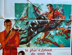 Affiche OPERATION TONNERRE Thunderball JAMES BOND Sean Connery 120x160cm