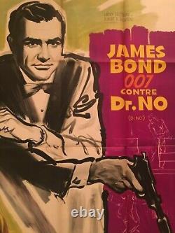 Affiche de cinéma originale James Bond contre Dr No Sean Connery 1er tirage