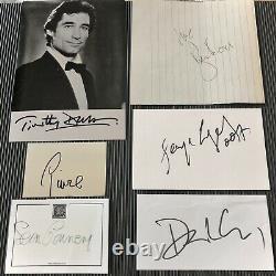 All SIX JAMES BOND 007! Signed Sean Connery, Daniel Craig, Roger Moore Autograph