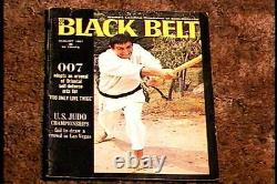 Black Belt Magazine Aug 1967 Vf Sean Connery James Bond 007