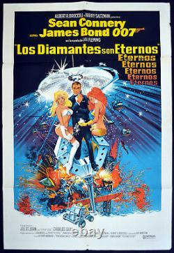 DIAMONDS ARE FOREVER 1971 Sean Connery JAMES BOND ARGENTINE POSTER