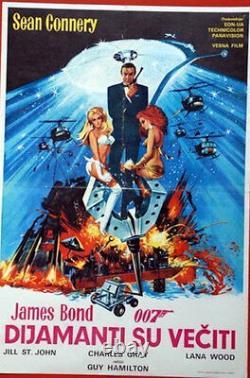 DIAMONDS ARE FOREVER Yugoslavian movie poster JAMES BOND SEAN CONNERY McGINNIS