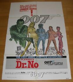 DR. NO (1962, R80) James Bond 007 Sean Connery Rare Original US 1-SHEET Poster