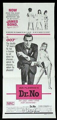 DR NO Original 70s release Daybill Movie poster James Bond Sean Connery 007