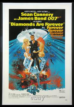 Diamonds Are Forever Sean Connery James Bond 1971 1-sheet Linenbacked