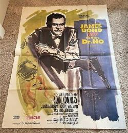 Dr. No Original French Movie Poster Sean Connery James Bond Hollywood Posters