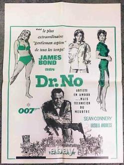 Dr. No! R'63 Sean Connery James Bond 007 Original Canadian Film Poster