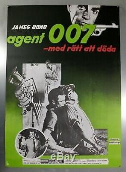 Dr. No SEAN CONNERY / JAMES BOND ORIGINAL SWEDISH ONE SHEET MOVIE POSTER