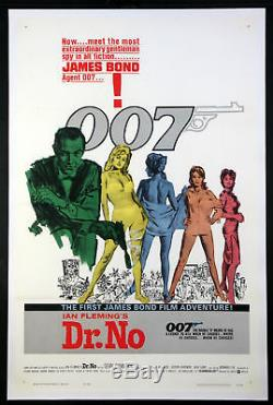 Dr. No Sean Connery As James Bond 1962 1-sheet Near Mint Linenbacked