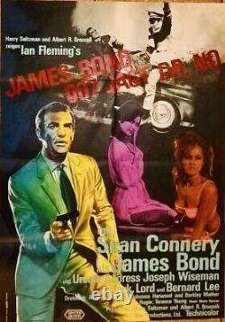 Dr no James Bond / Sean Connery / Affiche / 1er Tirage / Poster / VG +