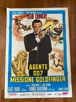 E Manifesto, 2f, Poster Agente 007 Missione Goldfinger Sean Connery James Bond