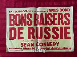 FROM RUSSIA WITH LOVE James Bond Original ULTRA RARE PROMO poster sean connery