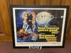 Framed DIAMONDS ARE FOREVER Original MOVIE POSTER Sean Connery James Bond Rare