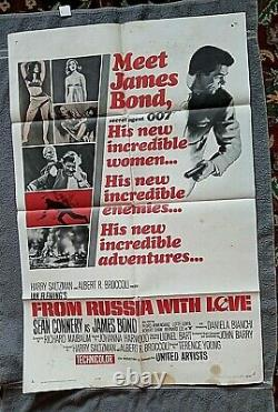 From Russia With Love Movie Poster SEAN CONNERY James Bond 007 ROBERT SHAW 1964
