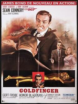 GOLDFINGER 46x62 French RI poster James Bond 007 Sean Connery Film/Art Gallery