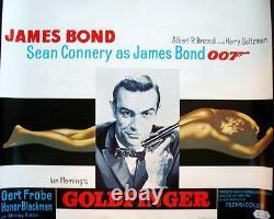 GOLDFINGER JAMES BOND Belgian movie poster R72 SEAN CONNERY RARE 007 NM