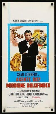 GOLDFINGER JAMES BOND italian locandina movie poster 13x29 SEAN CONNERY RARE
