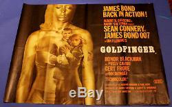 GOLDFINGER Original British Quad James Bond 007 Sean Connery
