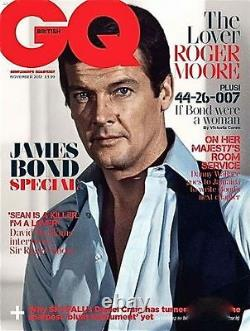 GQ Magazine, JAMES BOND, Roger Moore, Sean Connery, Pierce Brosnan, Timothy Dalton