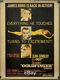 Goldfinger 1964 Original 30x40 Movie Poster Sean Connery James Bond 007
