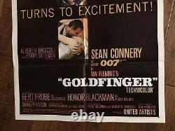 Goldfinger Original 1964 1sheet Movie Poster Sean Connery James Bond