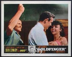 Goldfinger Sean Connery James Bond 1964 Lobby Card #7