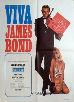 Goldfinger Viva James Bond 007 Sean Connery Original Medium Movie Poster