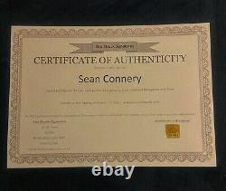 Hand Signed Photograph of Sean Connery with COA