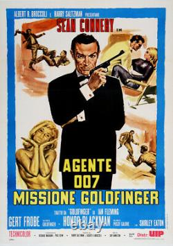 Italian James Bond Movie Poster c1975 Missione Goldfinger Sean Connery