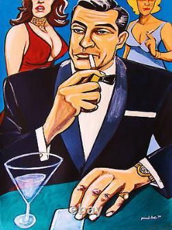 JAMES BOND 007 PRINT poster sean connery movie goldfinger birthday gift martini