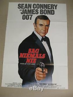 JAMES BOND 007 SAG NIEMALS NIE Poster Plakat Sean Connery