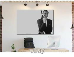 JAMES BOND 007 SEAN CONNERY GUN Canvas Wall Art Print