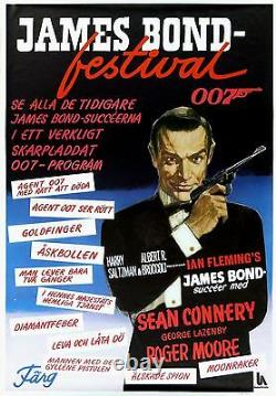 JAMES BOND FESTIVAL Sean Connery, Roger Moore, George Lazenby SWEDISH POSTER