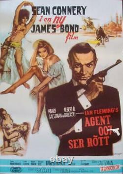 JAMES BOND FROM RUSSIA WITH LOVE Swedish movie poster R1969 SEAN CONNERY